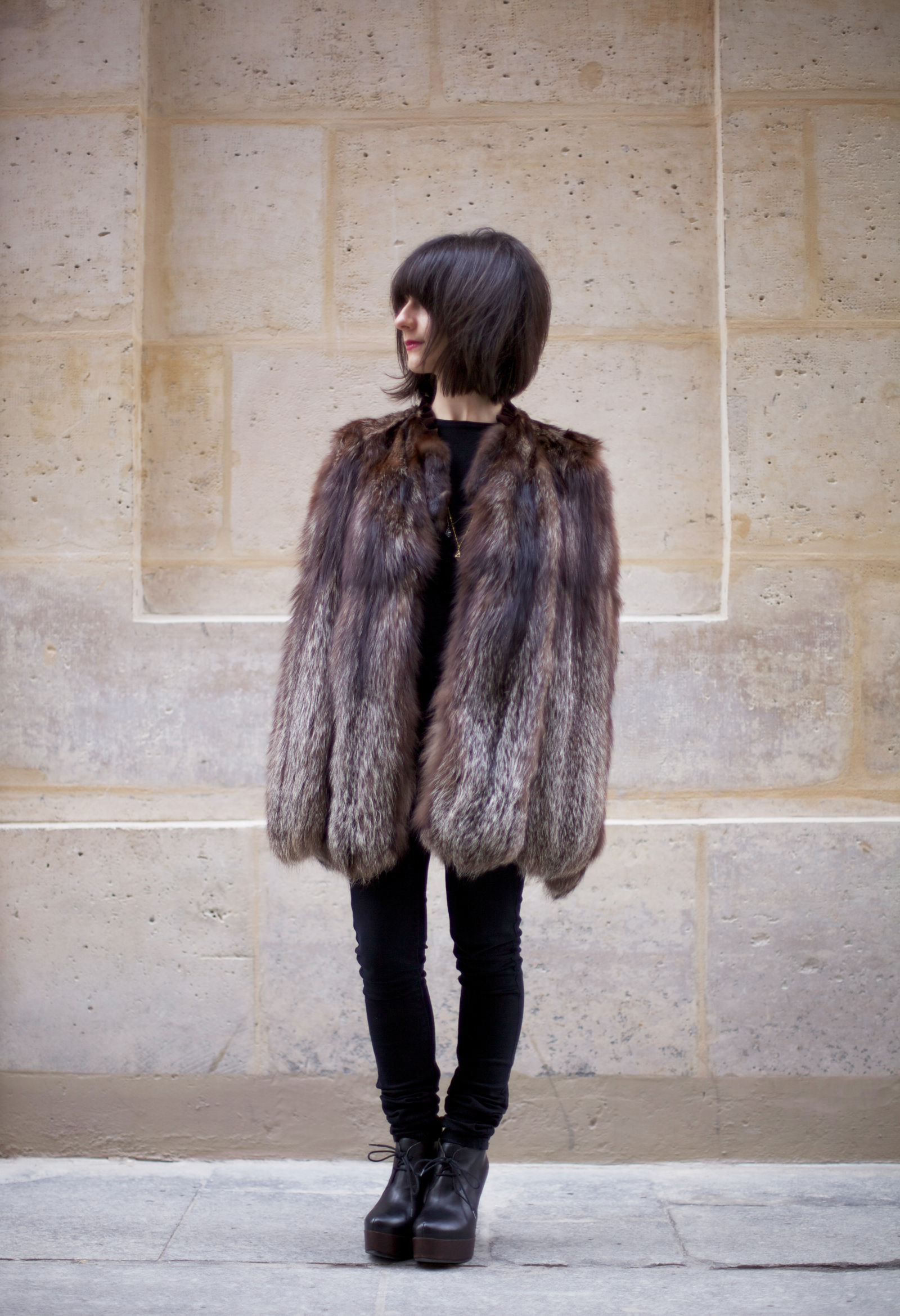 Fur Cape from Amsterdam Flea Market