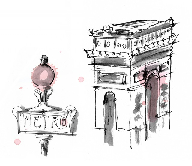 Paris Metro & Arc de Triomphe