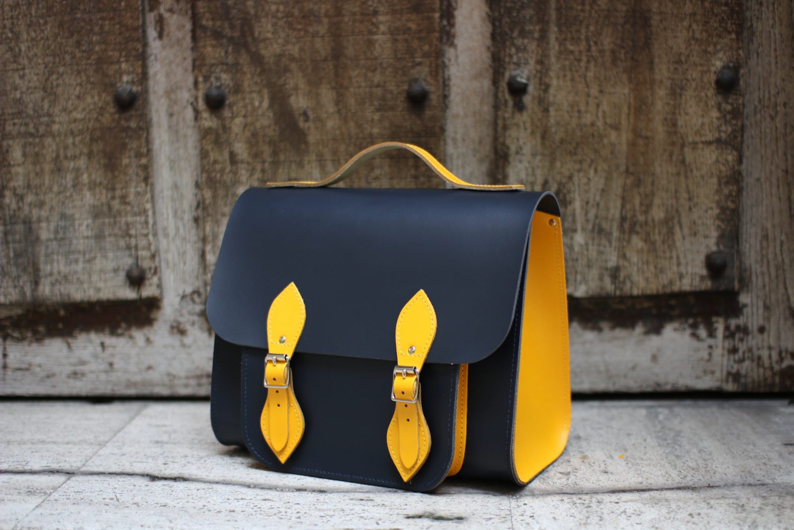 Two Tone Bag (Ebony & Citrus) - Rhodesian of Edinburgh