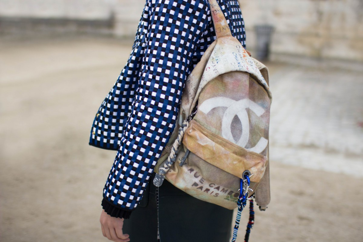 Chanel Graffiti Backpack At Paris Fashion Week Living In Clips