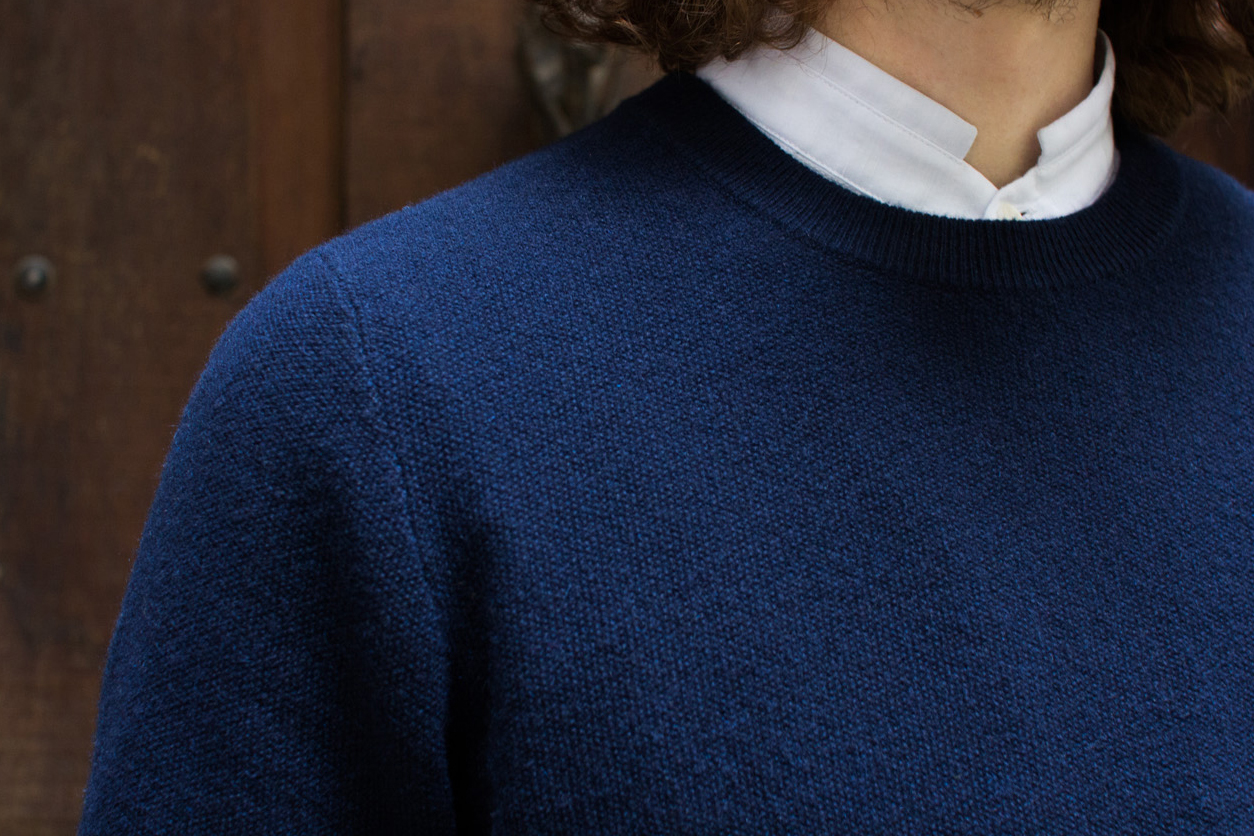 Hircus Navy Blue Cashmere Knit