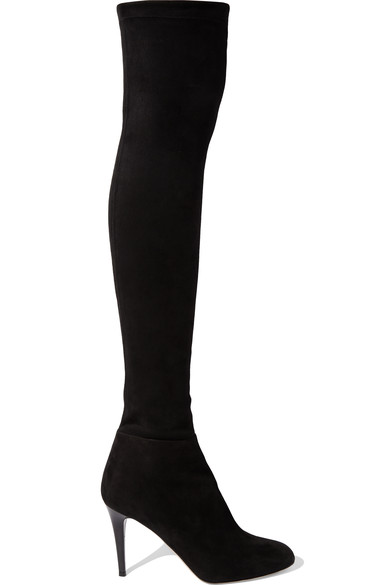 Jimmy Choo - Toni stretch-suede over-the-knee boots