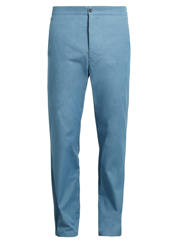 Sørensen - Painter cotton-chambray twill trousers