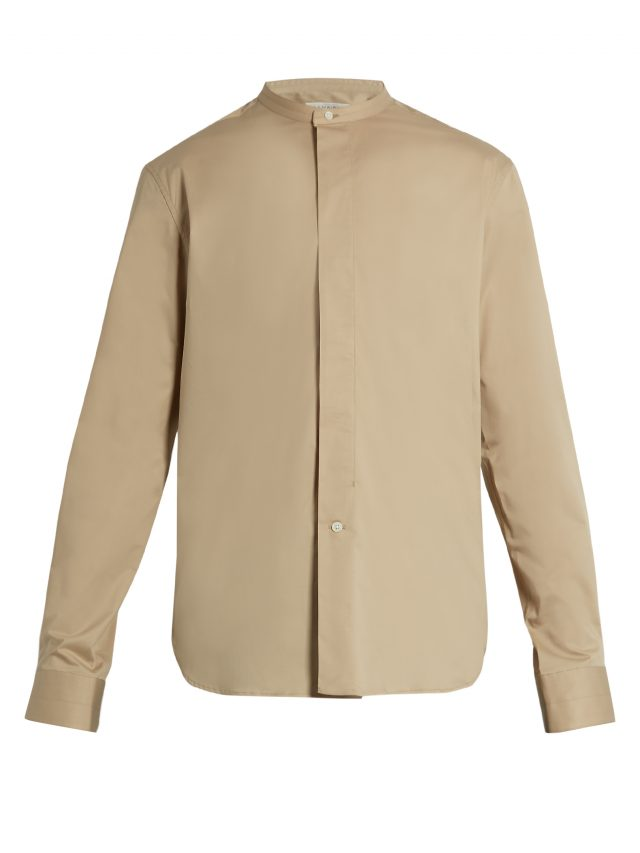 Lemaire - Stand-collar stretch-cotton shirt