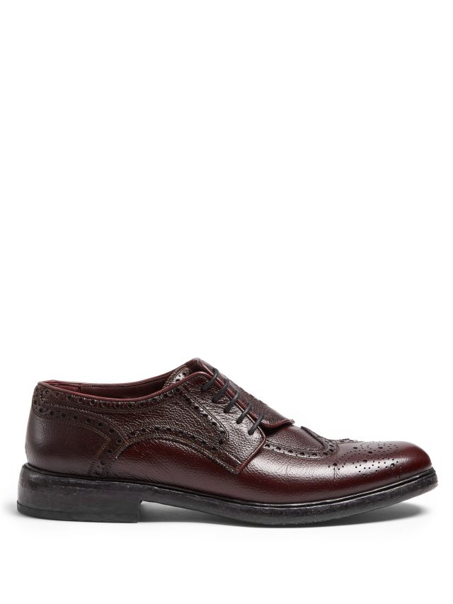 Burberry - Asymmetric grained-leather brogues