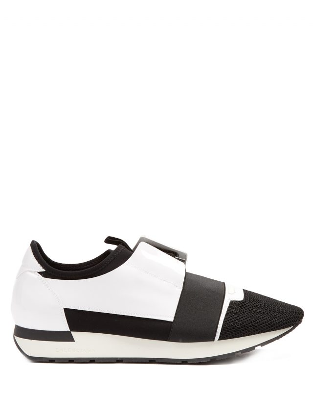 Balenciaga - Race Runner panelled low-top trainers