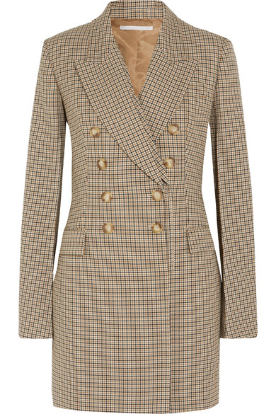 Stella McCartney  - Double-breasted checked wool blazer